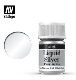 Vallejo Model Color: Alchohol Metallics- White Gold, 35 ml.