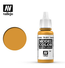 Vallejo Model Color: Glaze- Tan Glaze, 17 ml.