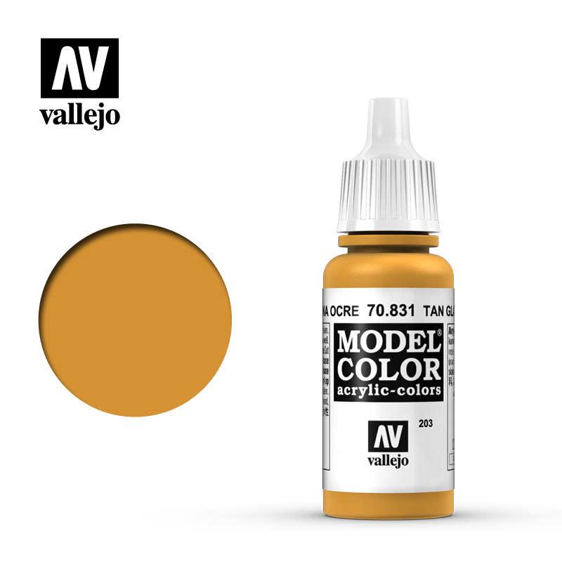 Vallejo Model Color: Glaze- Tan Glaze, 17 ml.