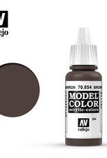 Vallejo Model Color: Glaze- Brown Glaze, 17 ml.