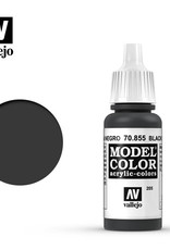 Vallejo Model Color: Glaze- Black Glaze, 17 ml.