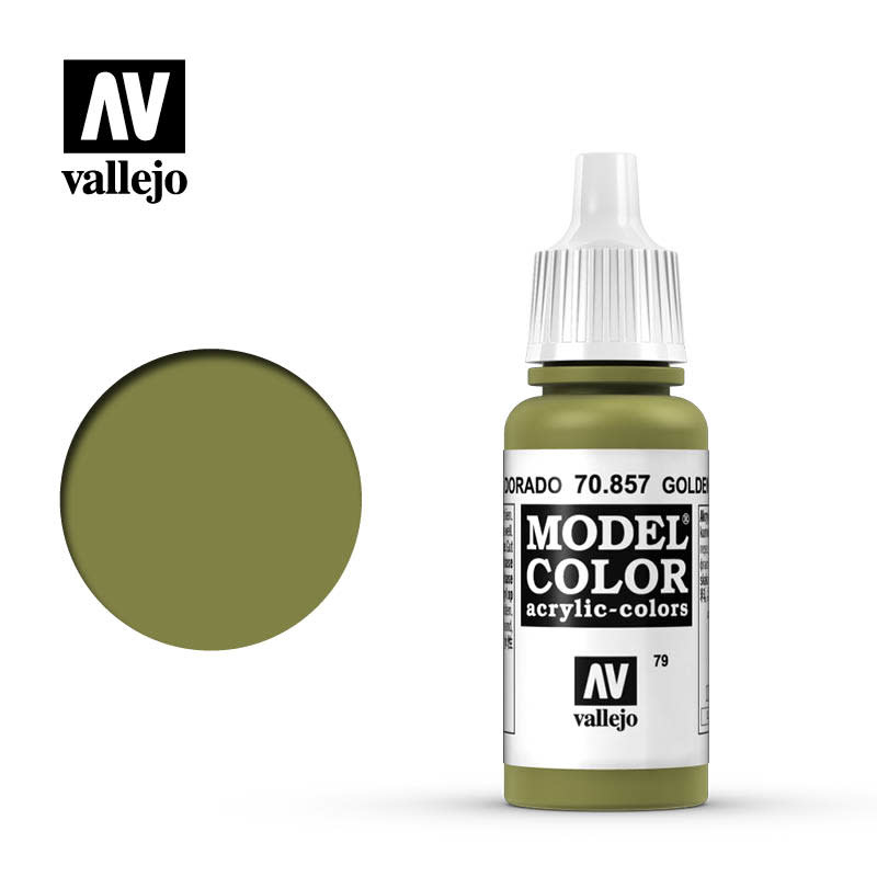 Vallejo Model Color: Matte- Golden Olive, 17 ml.
