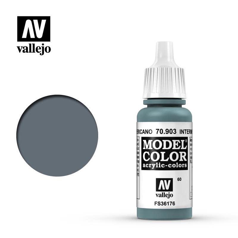 Vallejo Model Color: Matte- Intermediate Blue, 17 ml.