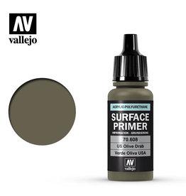 Vallejo Primer: U.S. Olive Drab, 17 ml.