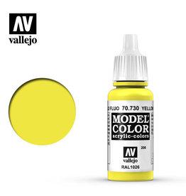 Vallejo Model Color: Flourescent- Flourescent Yellow, 17 ml.