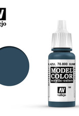 Vallejo Model Color: Metallic- Gunmetal Blue, 17 ml.