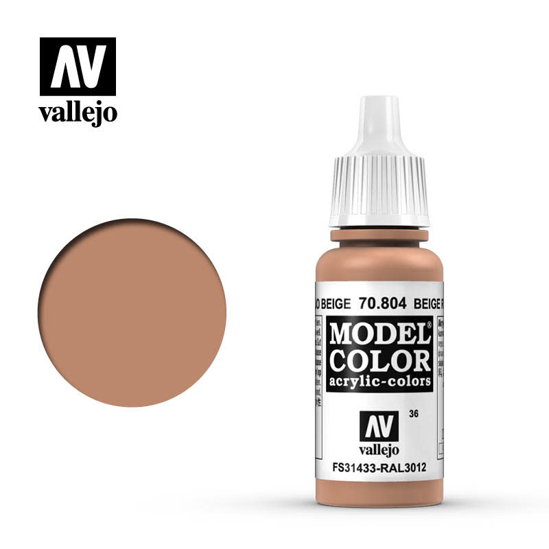 Vallejo Model Color: Matte- Beige Red, 17 ml.
