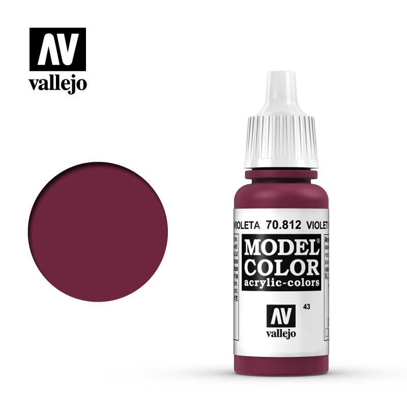 Vallejo Model Color: Matte- Violet Red, 17 ml.