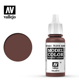 Vallejo Model Color: Matte- Burnt Red, 17 ml.