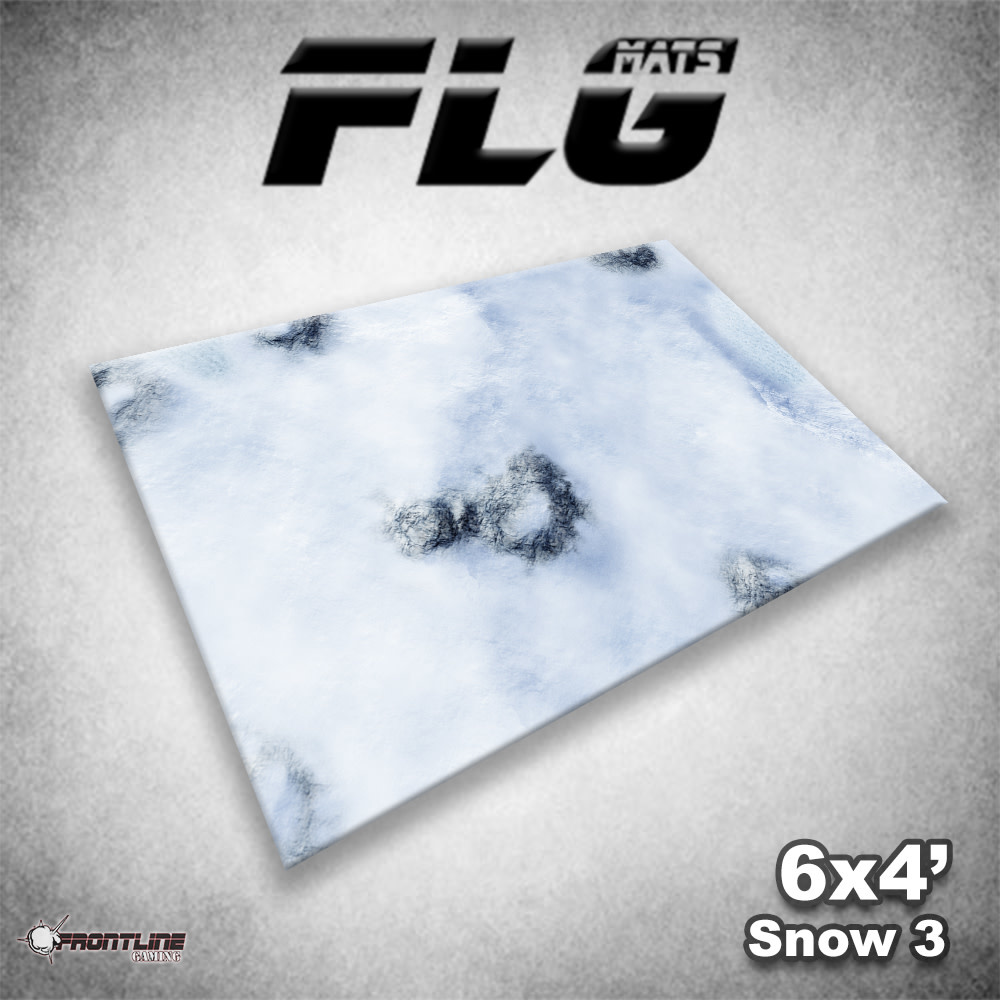 Frontline-Gaming FLG Mats: Snow 3 6x4'