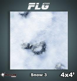 Frontline-Gaming FLG Mats: Snow 3 4x4'