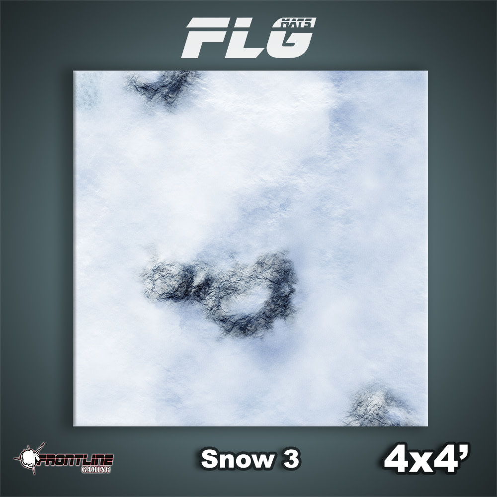 Frontline-Gaming FLG Mats: Snow 3 4x4'