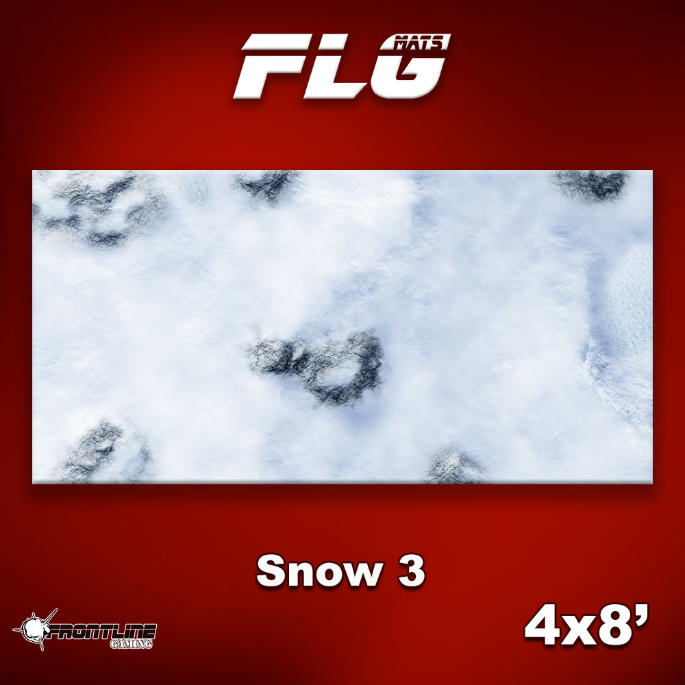 Frontline-Gaming FLG Mats: Snow 3 4x8'