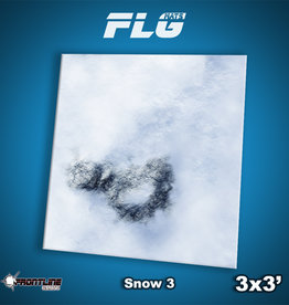 Frontline-Gaming FLG Mats: Snow 3 3x3'