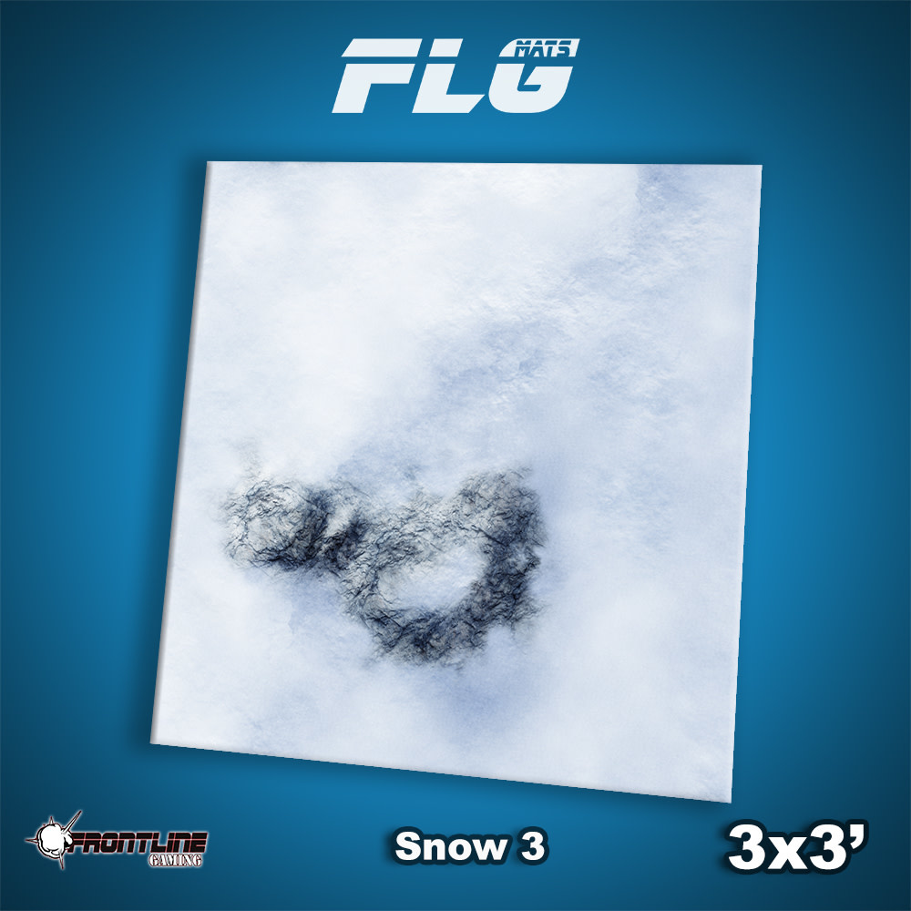 Frontline-Gaming FLG Mats: Snow 3 3x3'