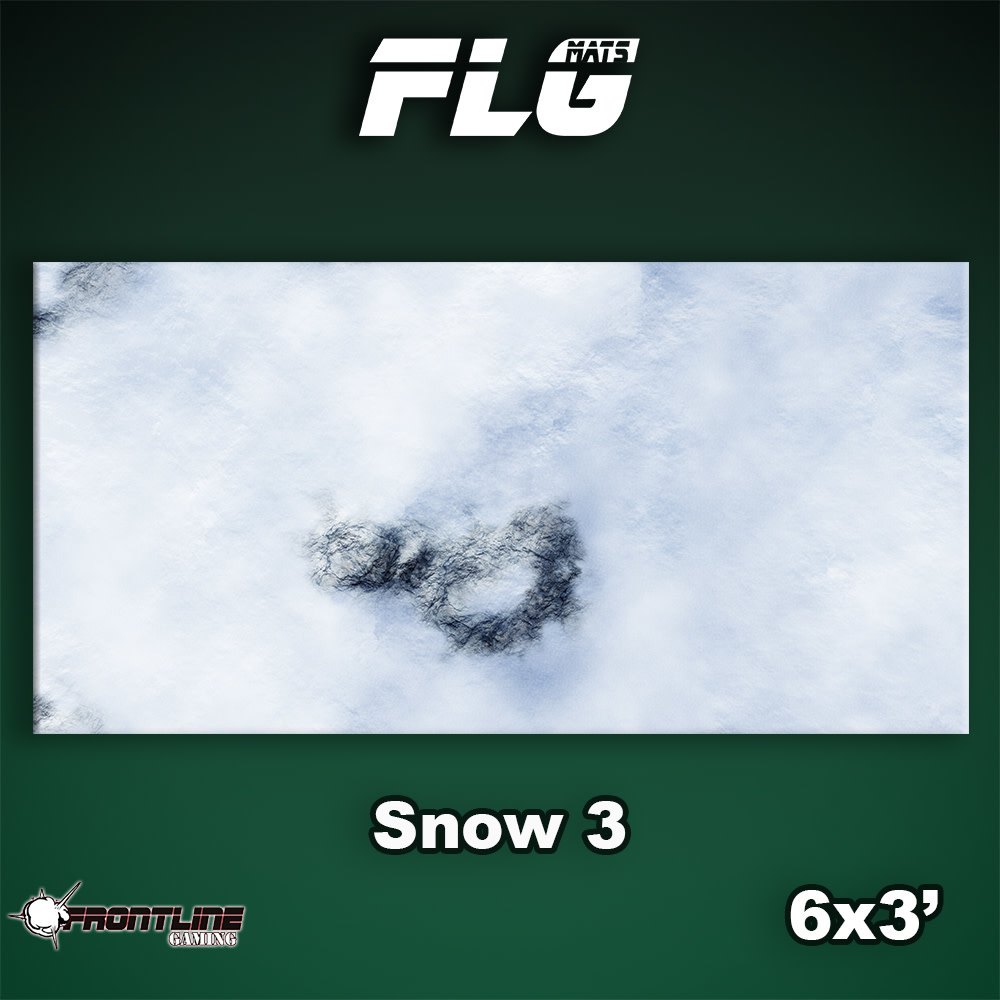 Frontline-Gaming FLG Mats: Snow 3 6x3'