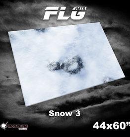 "Frontline-Gaming FLG Mats: Snow 3 44 x 60"""
