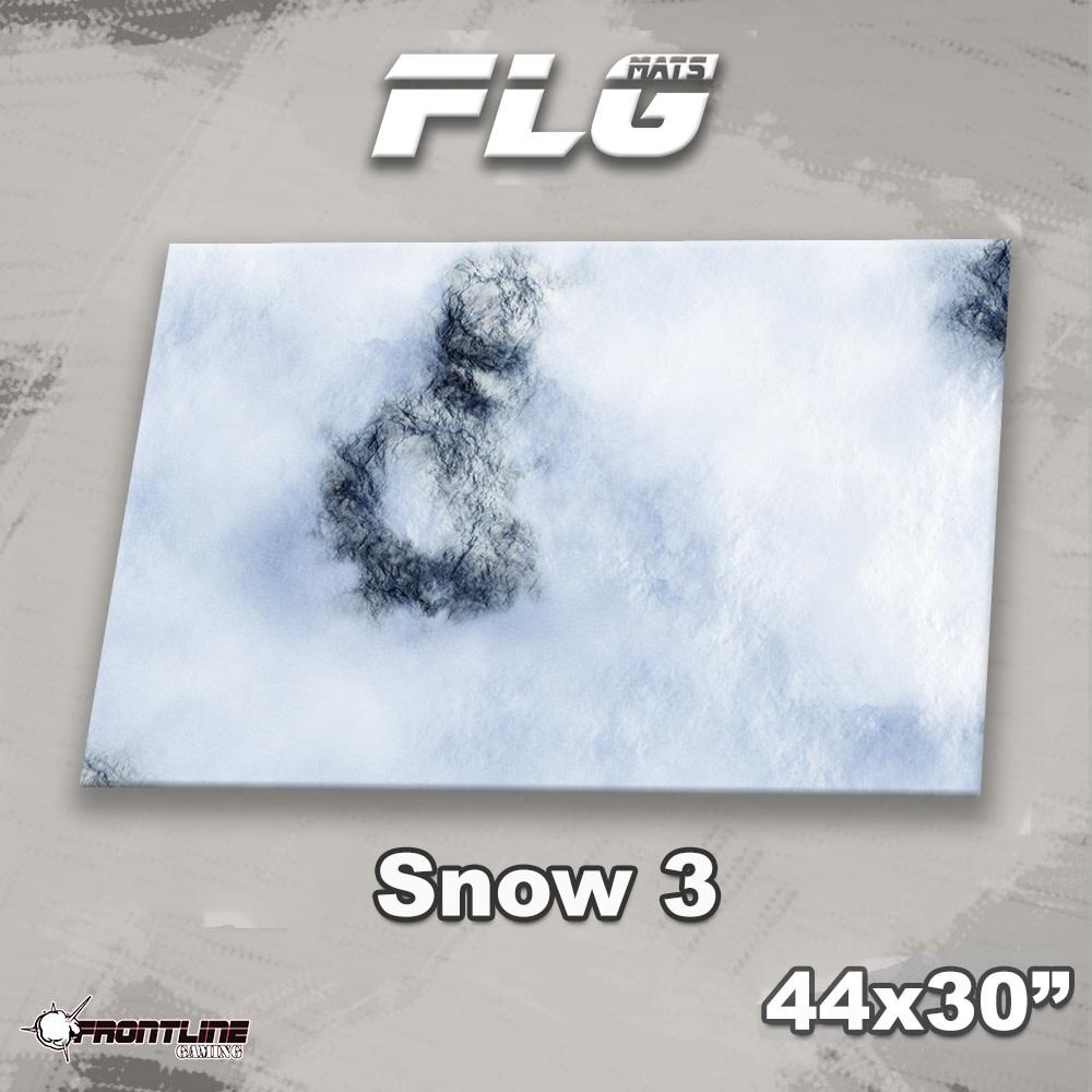 "Frontline-Gaming FLG Mats: Snow 3 44 x 30"""