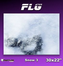 "Frontline-Gaming FLG Mats: Snow 3 30"" x 22"""
