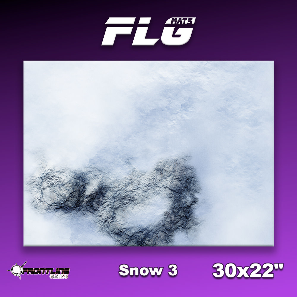 "Frontline-Gaming FLG Mats: Snow 3 30"" x 22"""