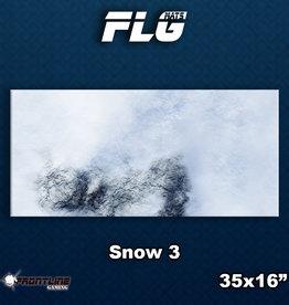 Frontline-Gaming FLG Mats: Snow 3 Desk Mat