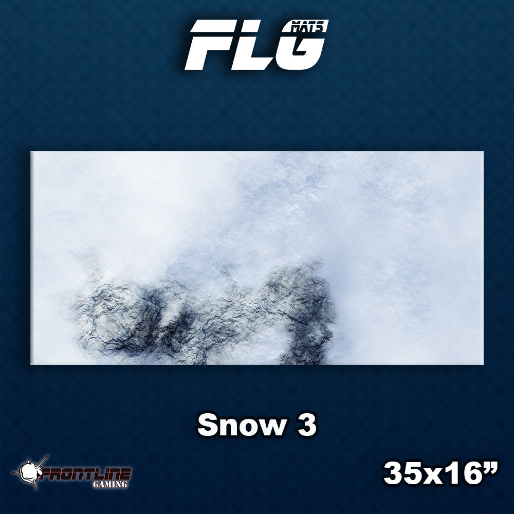 Frontline-Gaming FLG Mats: Snow 3 Desk Mat