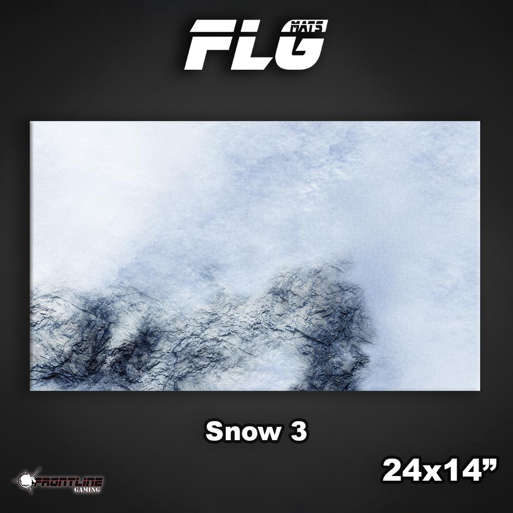 "Frontline-Gaming FLG Mats: Snow 3 24"" x 14"""