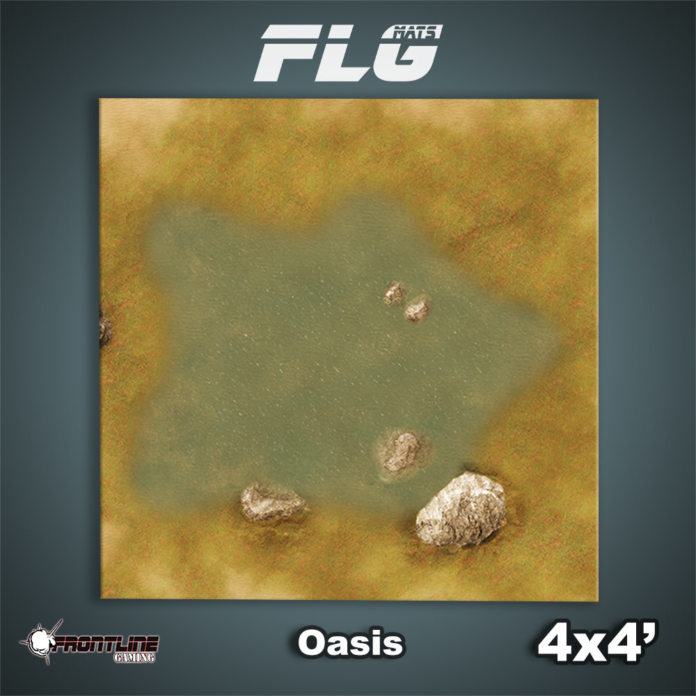 Frontline-Gaming FLG Mats: Oasis 4x4'