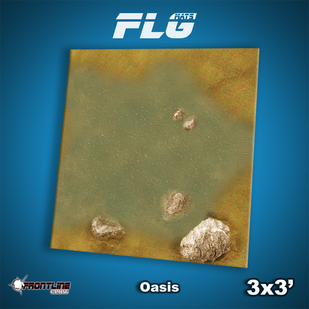 Frontline-Gaming FLG Mats: Oasis 3x3'