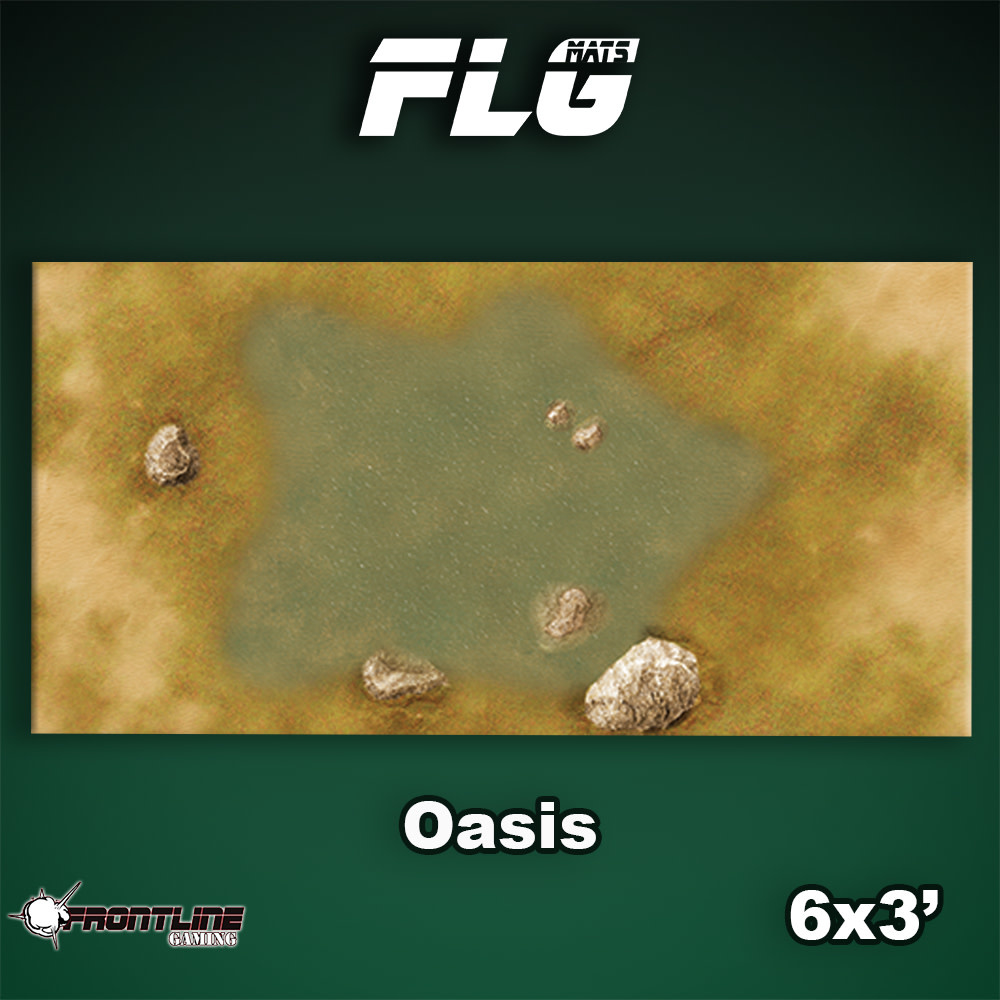 Frontline-Gaming FLG Mats: Oasis 6x3'