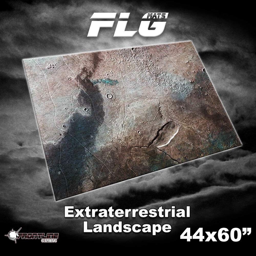 "Frontline-Gaming FLG Mats: Extraterrestrial Landscape 44"" x 60"""
