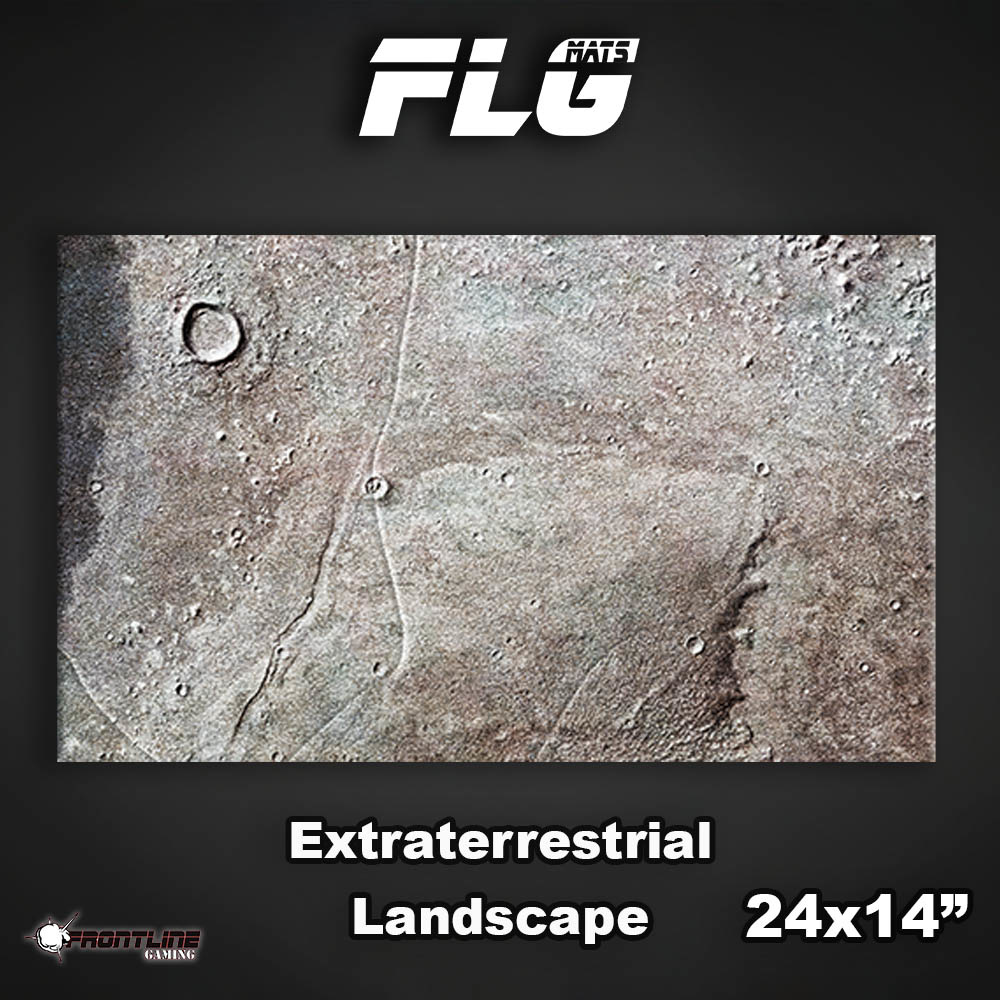 "Frontline-Gaming FLG Mats: Extraterrestrial Landscape 24"" x 14"""