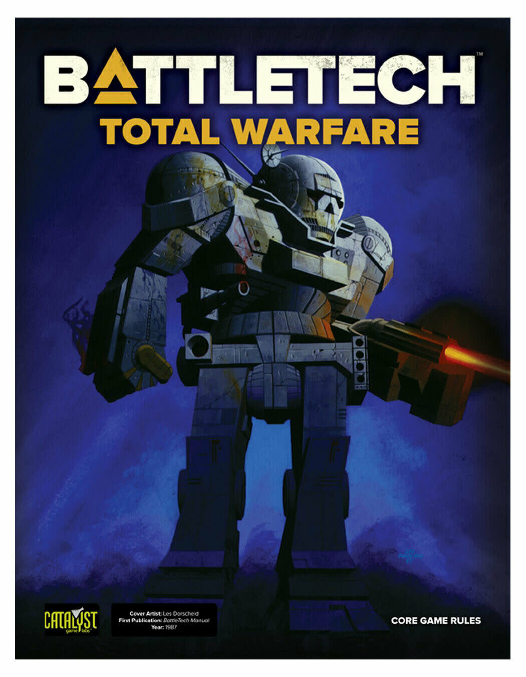 Catalyst Game Lab Battletech: Total Warfare 2nd Ed, Vintage Cover