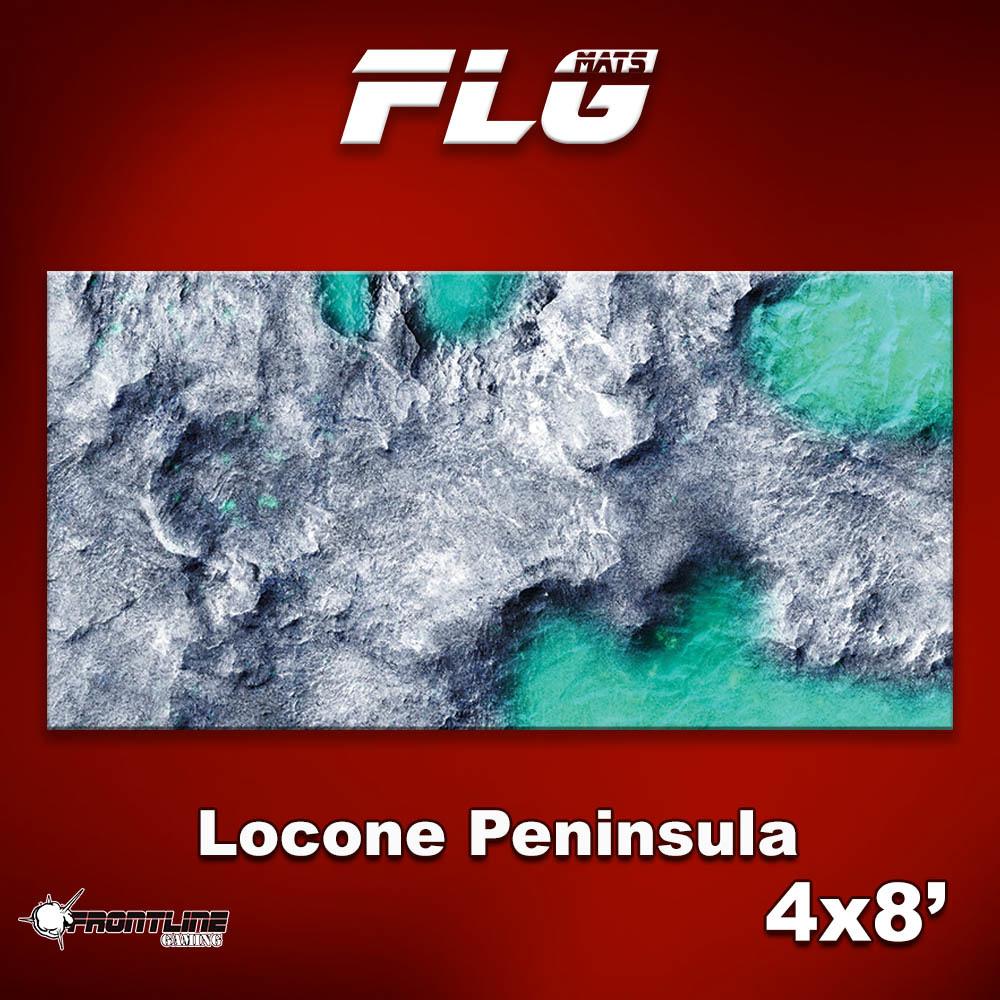 Frontline-Gaming FLG Mats: Locone Peninsula 4x8'