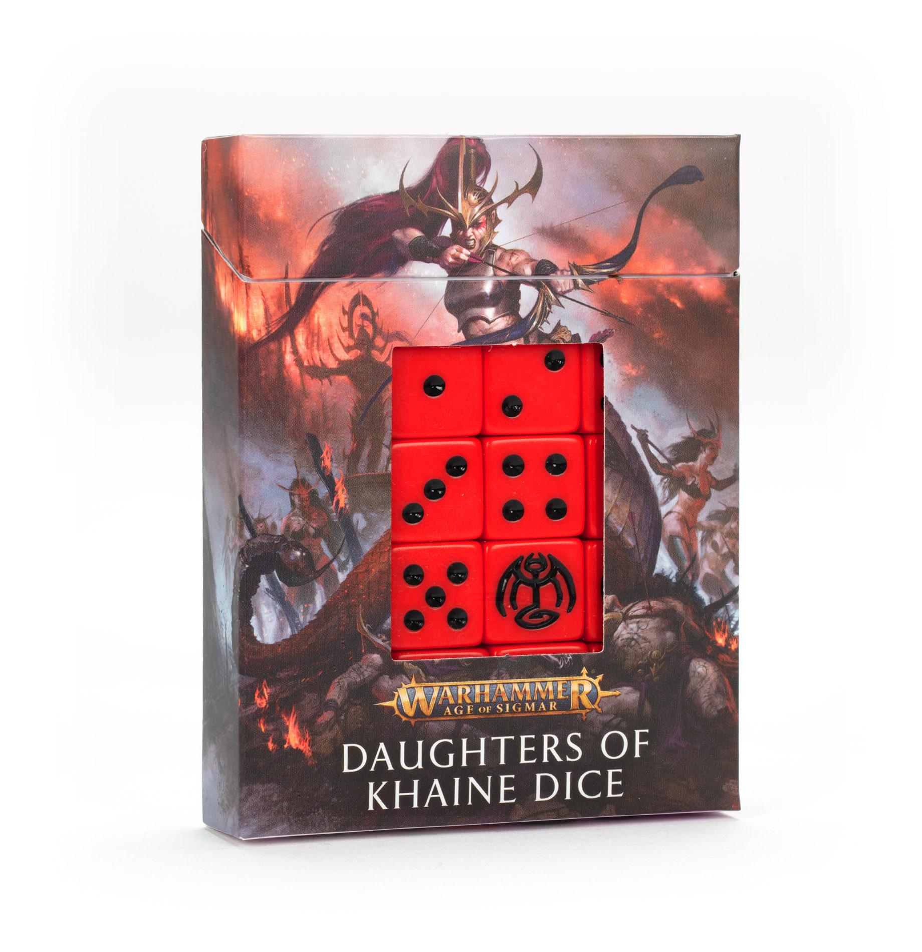 Games-Workshop Daughters of Khaine Dice Set