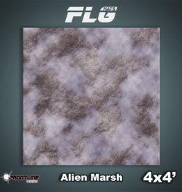 Frontline-Gaming FLG Mats: Alien Marsh 4x4'