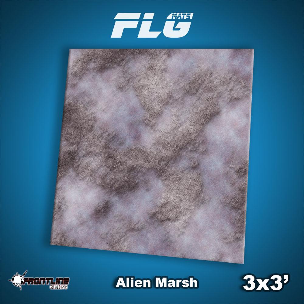 Frontline-Gaming FLG Mats: Alien Marsh 3x3'