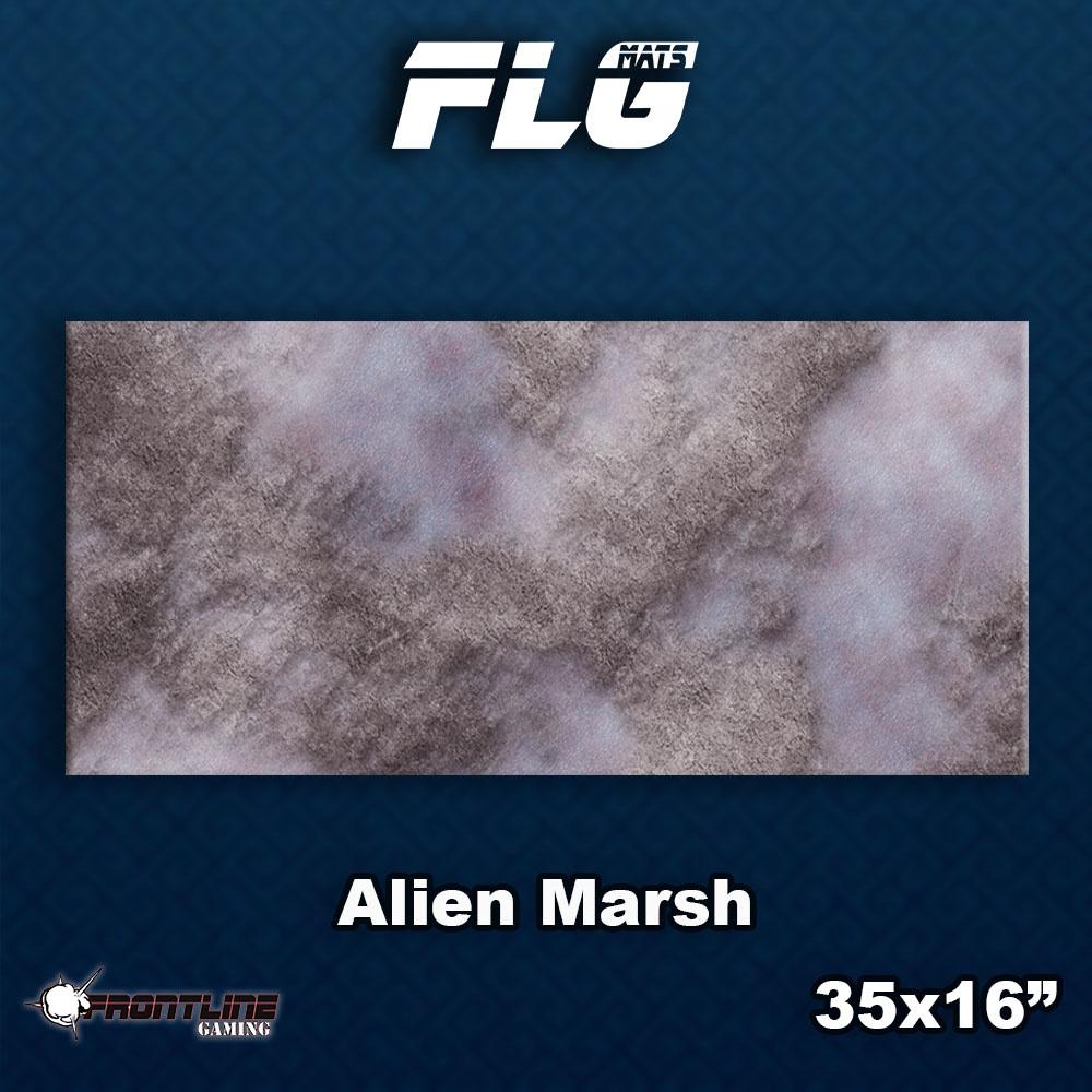 Frontline-Gaming FLG Mats: Alien Marsh Desk Mat