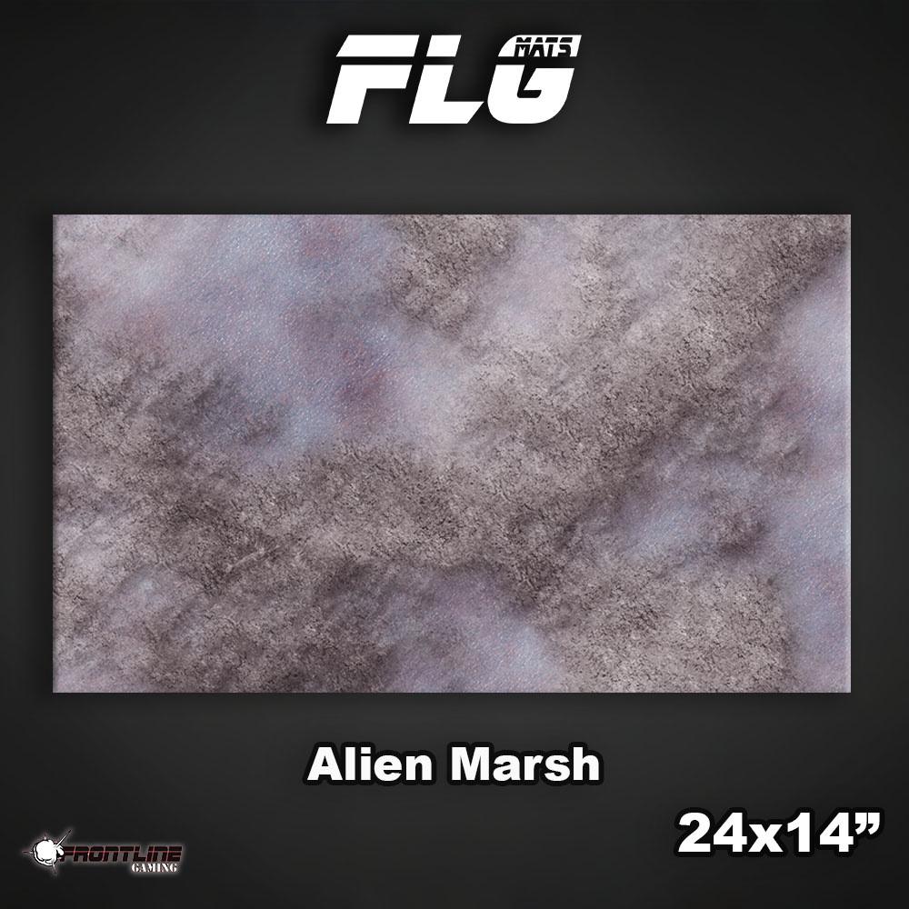 """Frontline-Gaming FLG Mats: Alien Marsh 24"""" x 14"""""""
