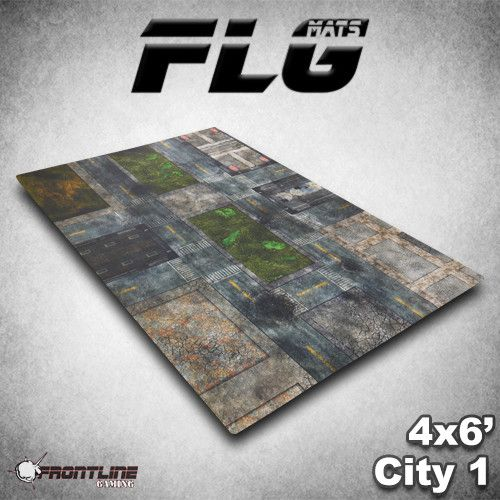 Frontline Gaming ITC Terrain Series: Damaged Urban Complete Set With Mat