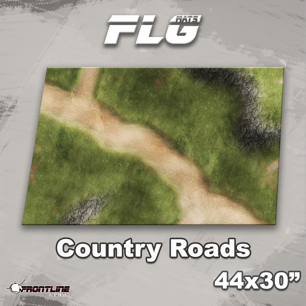 """Frontline-Gaming FLG Mats: Country Roads 44"""" x 30"""""""