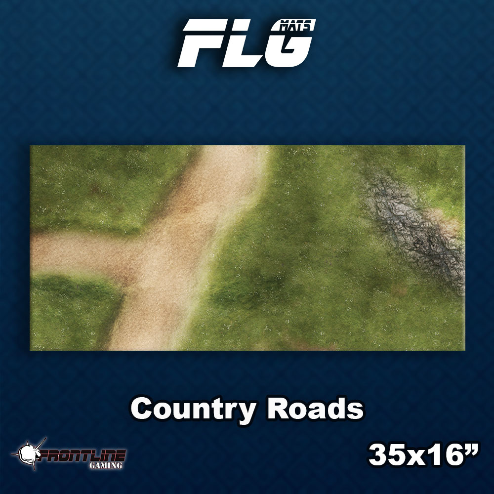 Frontline-Gaming FLG Mats: Country Roads Desk Mat