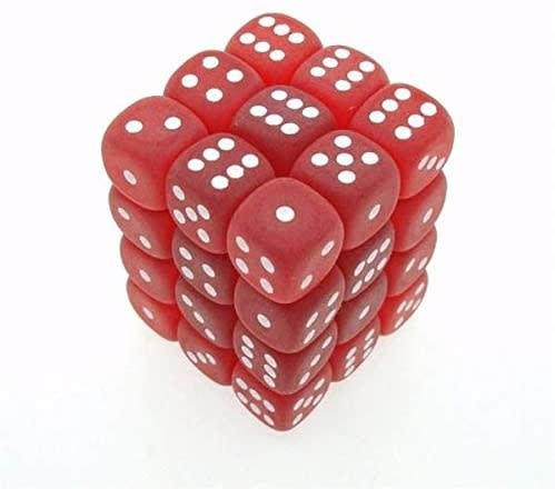 Chessex Chessex Frost Red/White Set of 12 D6 Dice