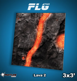 Frontline-Gaming FLG Mats: Lava 2 3x3'