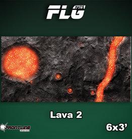 Frontline-Gaming FLG Mats: Lava 2 6x3'