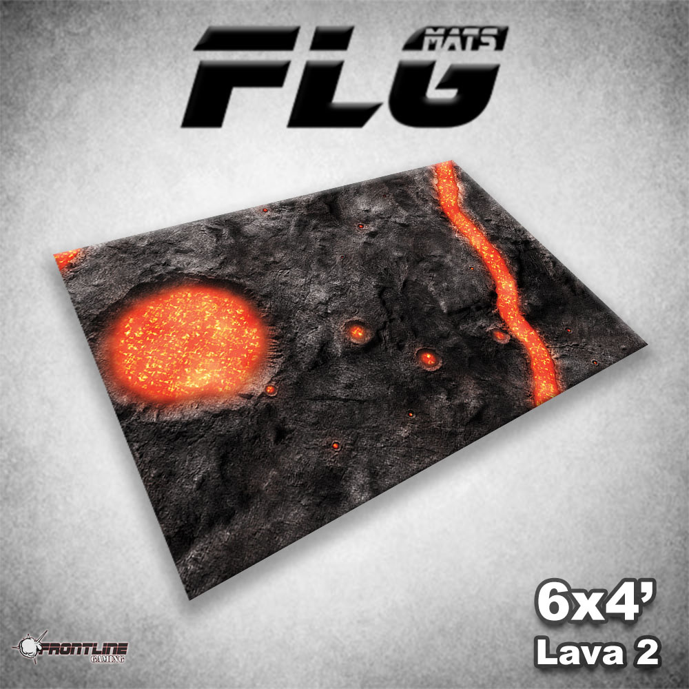 Frontline-Gaming FLG Mats: Lava 2 6x4'