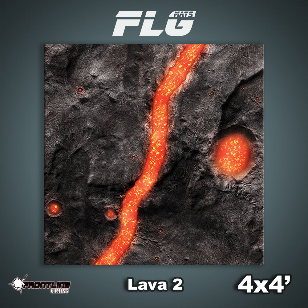 Frontline-Gaming FLG Mats: Lava 2 4x4'