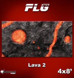 Frontline-Gaming FLG Mats: Lava 2 4x8'