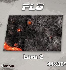 "Frontline-Gaming FLG Mats: Lava 2 44"" x 30"""