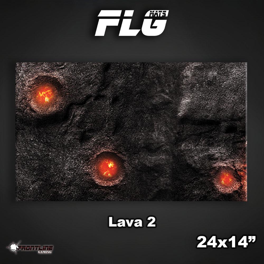 "Frontline-Gaming FLG Mats: Lava 2 24"" x 14"""